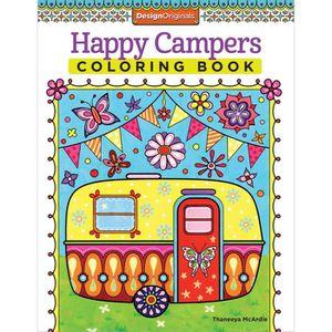 LIVRE DE COLORIAGE Cahier de coloriage Design Originals-Happy Campers