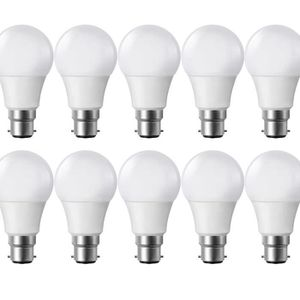 AMPOULE - LED Lot de 10 Ampoules LED B22 9W eq 60W 806lm Blanc c