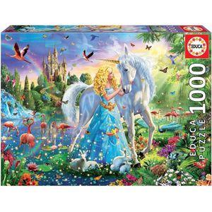PUZZLE EDUCA - puzzle 1000 la princesse et la licorne