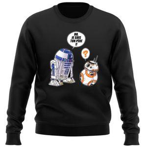PULL Pull Noir Star Wars parodique BB-8 et R2-D2 : BB,
