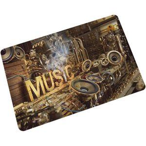 PAILLASSON @M4386 Tissu Home Paillasson Musique Zélote Série