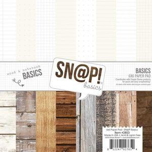 BLOC NOTE Set de 24 feuilles de papier scrapbooking