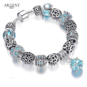 BRACELET - GOURMETTE Bracelet Charm Boule Style Pandora Argent 925