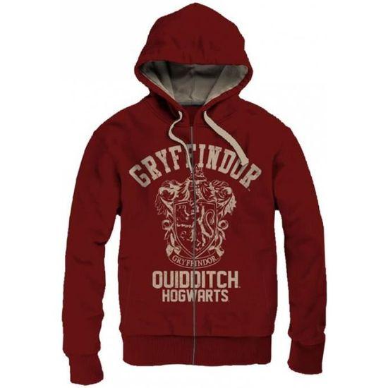 Sweat a capuche Harry Potter Griffondor Quidditch Vintage Taille: S