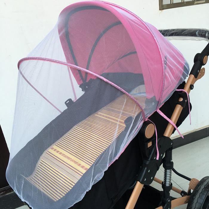 【moustiquaire】Moustiquaire pour poussette pour bébé, couverture anti-insectes complète, chariot pour enfants, filet pliable pour