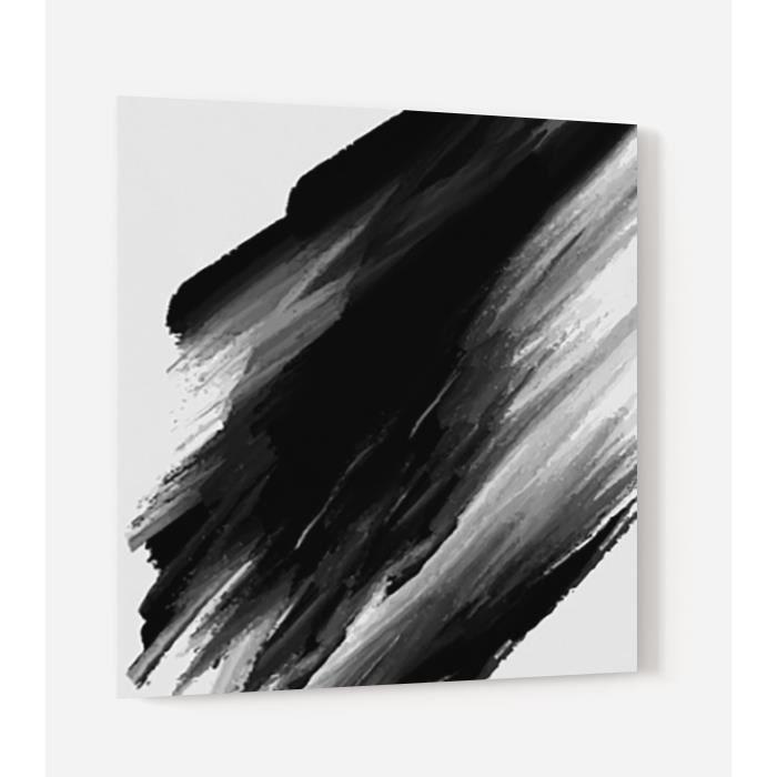 Fond de hotte -Fond peinture noire- en Panneau composite aluminium L, 60 x H, 70 cm