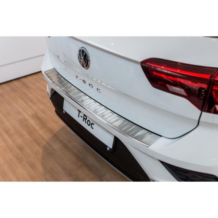 Protection de seuil de coffre chargement adapté pour VW T-Roc 2017- [Argent brossé]