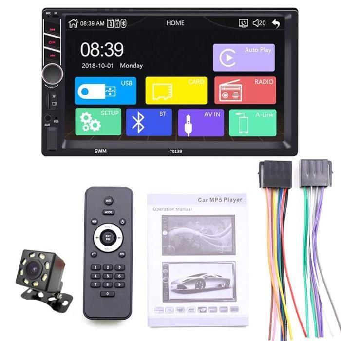 Autoradio 2 Din Carplay Android Auto Bluetooth stéréo Audio vidéo lecteur MP5 mains libres USB 7- unité de - Type with camera
