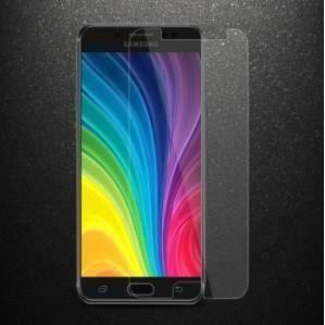 Film de protection pour téléphone Samsung C8 anti-empreintes digitales surface totalement transparente en verre trempé 20D