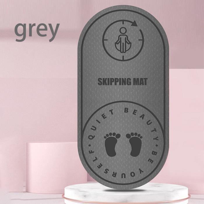 Tapis de sol,Tapis de Yoga en Tpe à corde à sauter silencieuse, haute densité de 8mm, pour aérobic, coussin - Type Gray