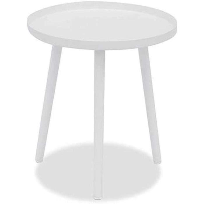 solide Round Table en métal sans se fissurer Inodore Tableau blanc Théière Fer Salon Petit Appartement Canapé d'angle guéridon Taill