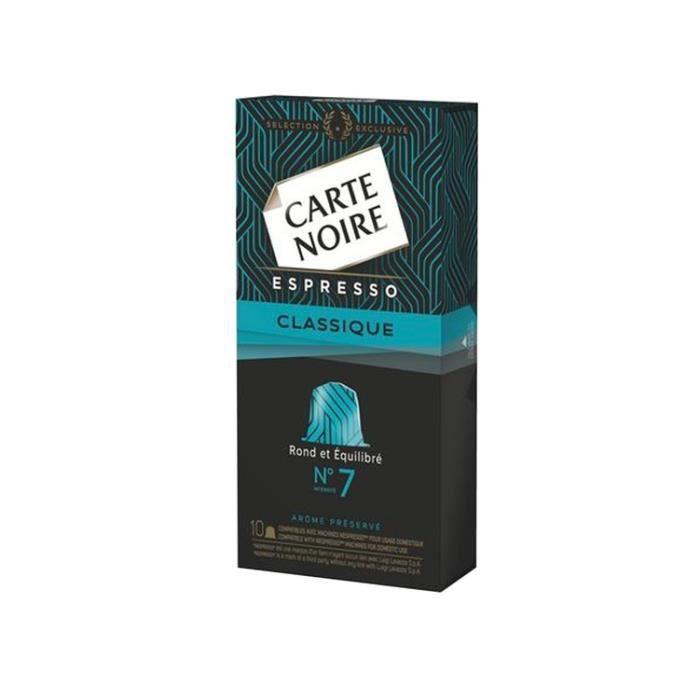 Carte Noire - 100 Capsules Café Expresso Classique N°7 (10 packs de 10)