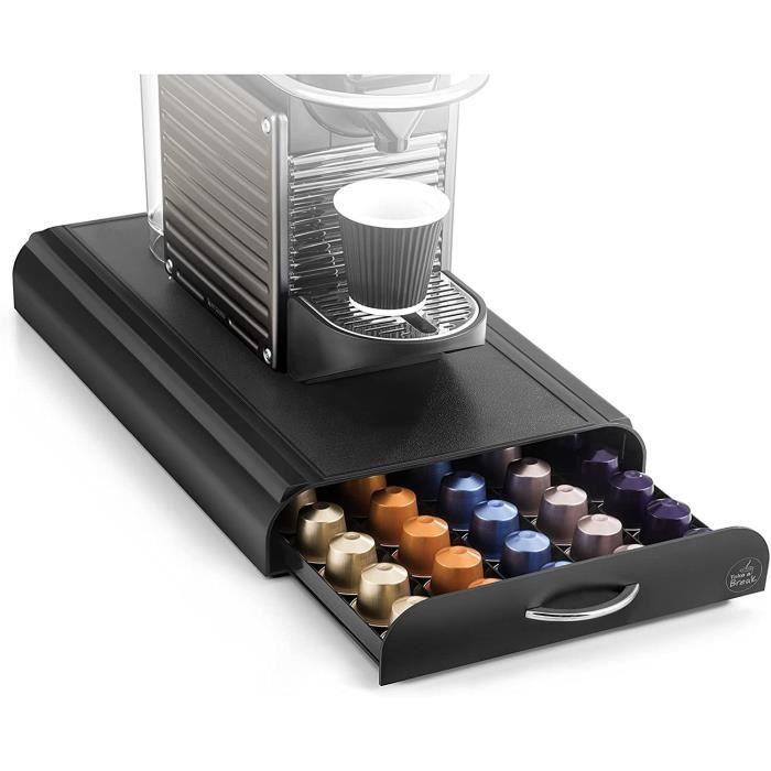 CEP Take a Break - Range-dosettes sous cafetière compatible Nespresso et Special. T - Plastique - Noir - 23,4 x 40,5 x 6 cm pour