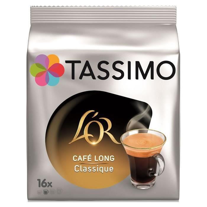 LOT DE 5 - TASSIMO : L'Or - Dosettes de café long classique 16 dosettes