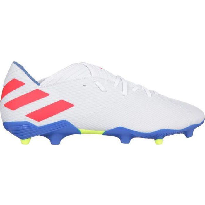 ADIDAS PERFORMANCE Chaussures de Football Nemeziz Messi 19.3 FG - Homme - Blanc/Rouge/Bleu
