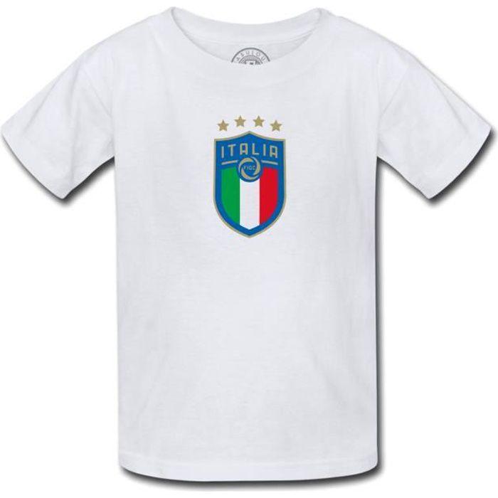 T-shirt Enfant Blason Italie Football Equipe National Embleme Sport