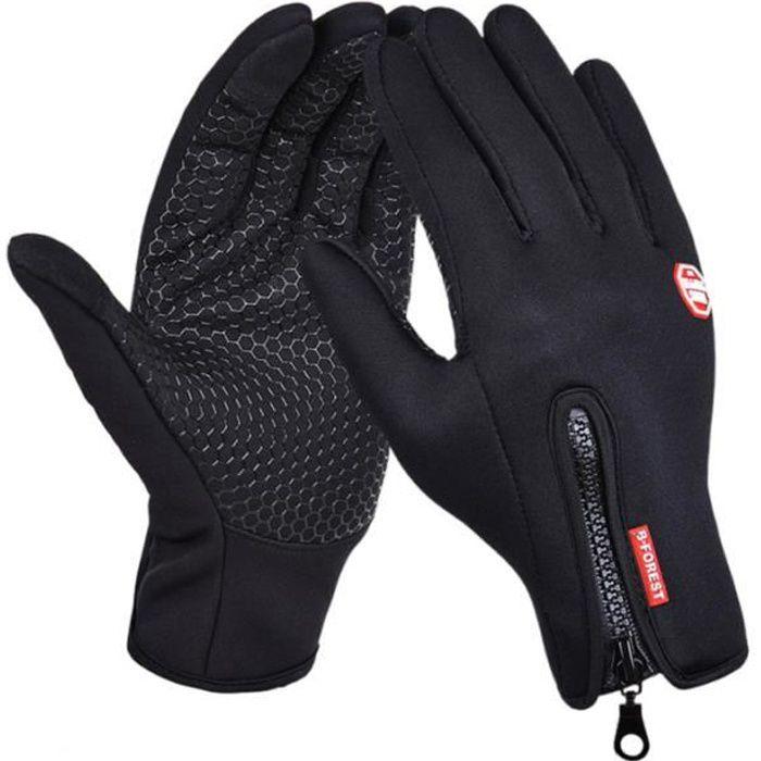 1 paire de gants écran tactile temps froid coupe-vent gant chaud pour les sports de plein air vélo randonnée GANTS - SOUS-GANTS
