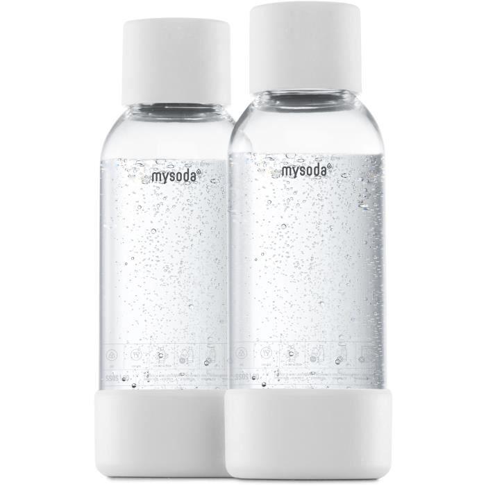 MYSODA - Pack de 2 bouteilles White PET et Biocomposite 0,5L