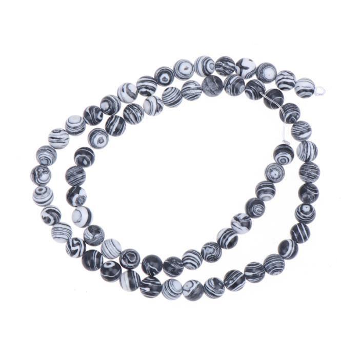 62pcs perles de pierre colorées malachite rondes polies bricolage de créatif bijoux accessoires pour BRACELET - GOURMETTE - JONC
