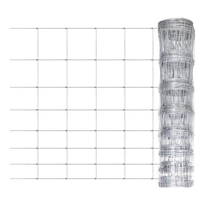 Clôture de jardin 50 m x 100 cm Grillage galvanisé de Haute qualité Pour terrasse balcon forêt