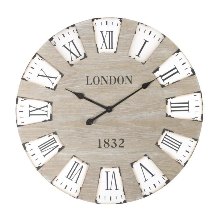 Horloge murale grand diametre for Grande pendule murale design