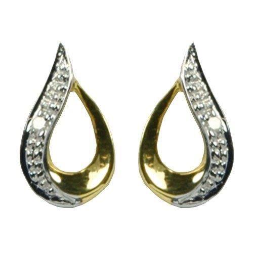 Boucles Doreille - 9 - Er9370d - Femme - Or Jaune (9 Cts) 1.04 Gr - Diamant PH7R7
