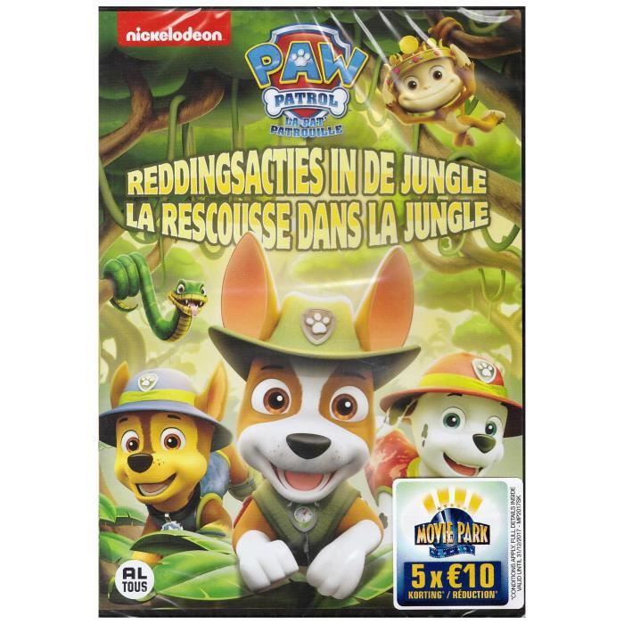 pat patrouille 11 paw patrol 11 la rescousse dans la jungle dvd en dvd dessin anim pas. Black Bedroom Furniture Sets. Home Design Ideas