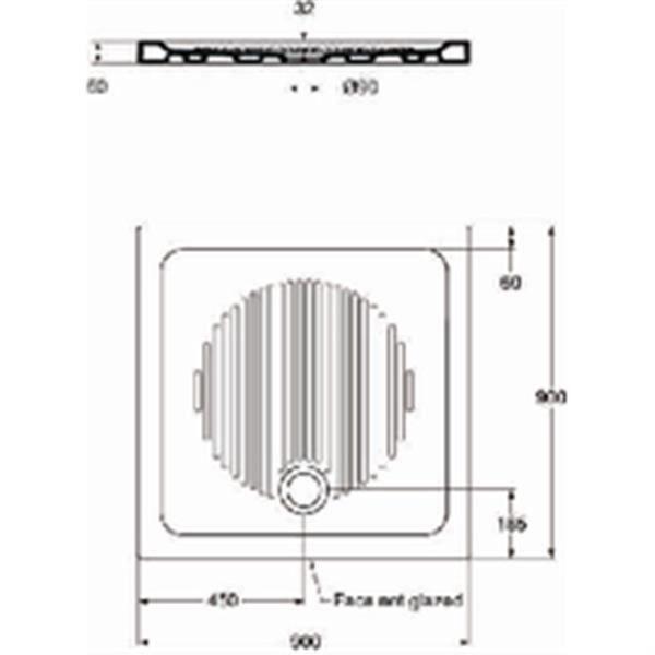 RECEVEUR DE DOUCHE Ideal standard Receveur CONNECT 90x90cm, antidérap
