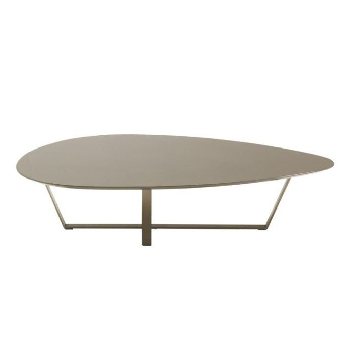 Table basse design line laqu taupe achat vente table for Table basse design solde