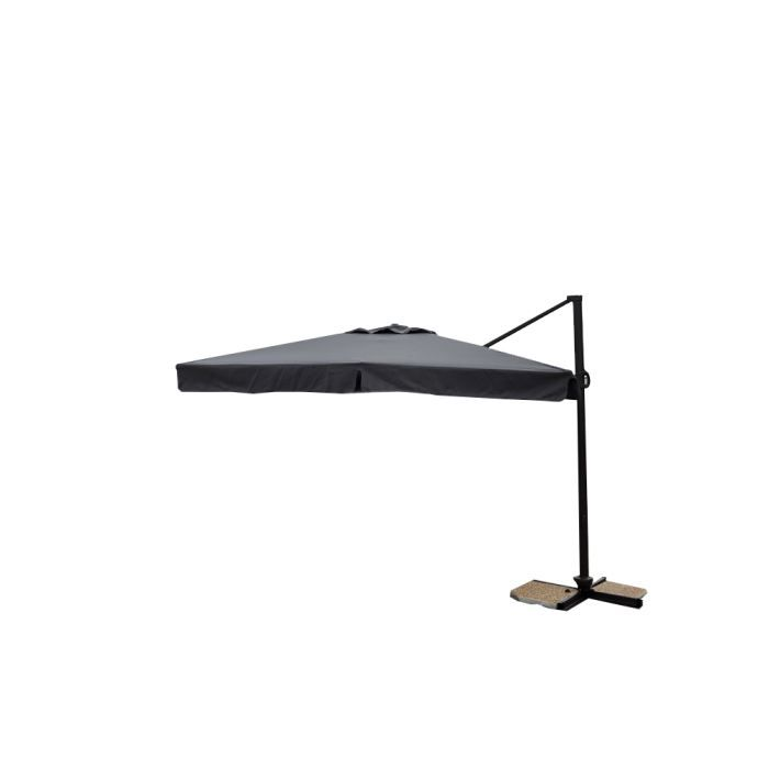 parasol d port pro 3x3m alu 80x53mm taupe achat vente parasol parasol d port pro 3x3m. Black Bedroom Furniture Sets. Home Design Ideas
