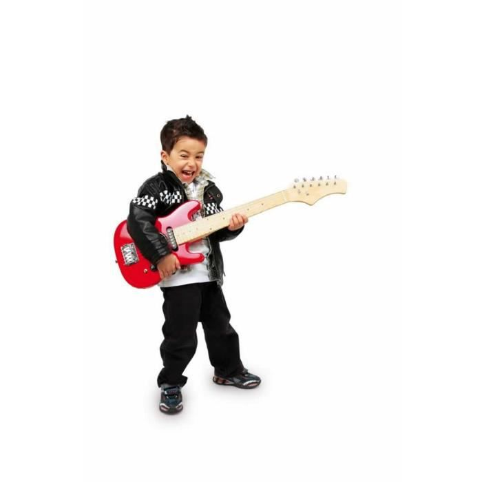 guitare lectrique rouge pour enfant jimmy achat vente. Black Bedroom Furniture Sets. Home Design Ideas