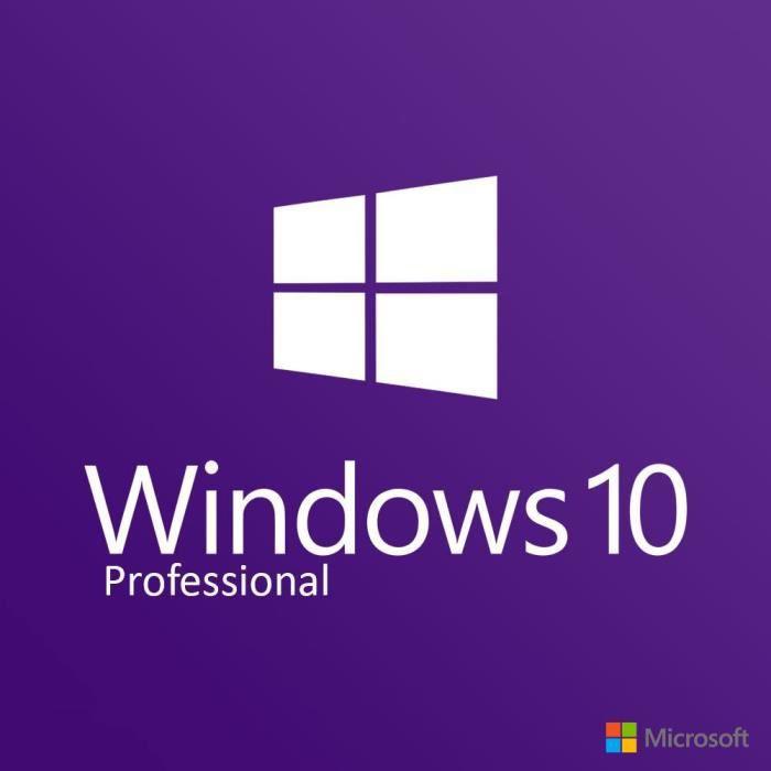 LIVRE PROGICIEL  Windows 10 Pro / Livraison en 1H & 24/24 par mail