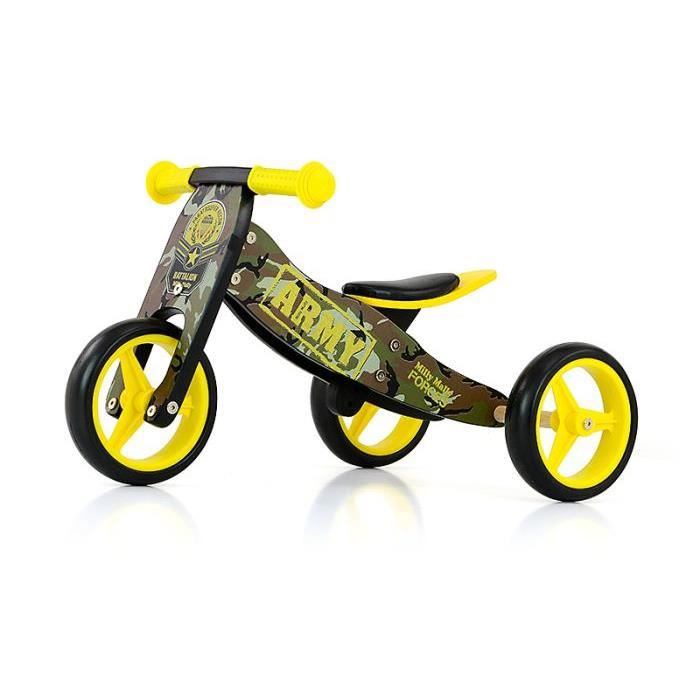 TRICYCLE Tricycle / Draisienne 2en1 Jhake Militaire +18 moi