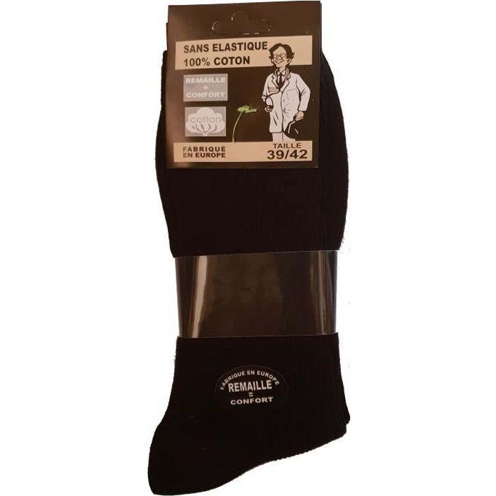 Hommes Gentle Grip Chaussettes Non Élastique Soft Top Diabétique Fashion 3,6 12 Paires