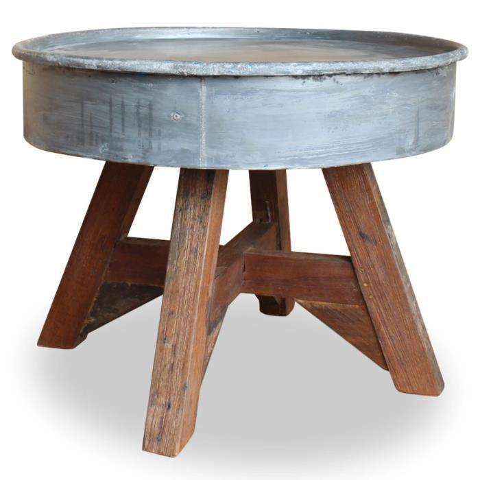 Moderne Table basse Table de Salon Bois de récupération ...