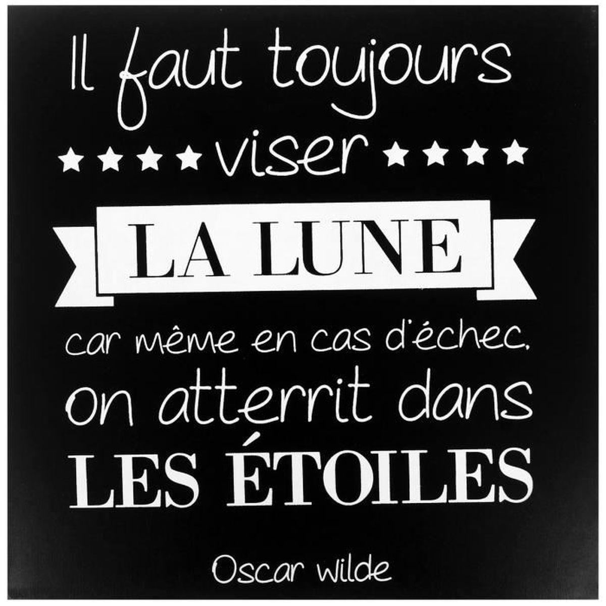 Tableau Toile Cadre Citation Oscar Wilde La Lune Dans Les