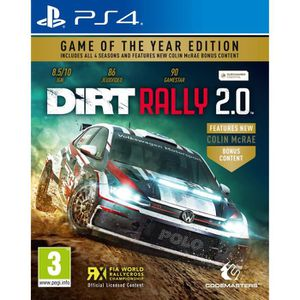 JEU PS4 Dirt Rally 2.0 Edition Game of the Year Jeu PS4