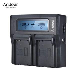 BATTERIE APPAREIL PHOTO Andoer ENEL14 Chargeur de batterie LCD double cana