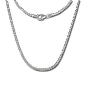 environ 40.64 cm Noir Cordon Chaîne Collier Avec Fine 925 Fermoir Argent 16 in