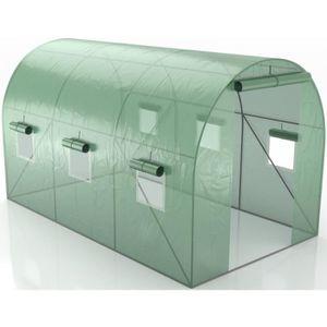 SERRE DE JARDINAGE GREEN ROOF - SERRE DE JARDIN TUNNEL 7M2 - 3,5X2M