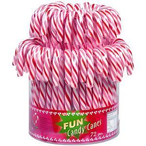 CONFISERIE DE SUCRE Candy canes rouge et blanc tubo de 72