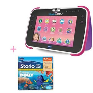TABLETTE ENFANT VTECH - Tablette STORIO MAX XL 2.0  rose & Jeu Le