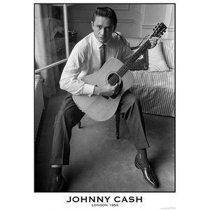 AFFICHE - POSTER Poster Johnny Cash  Londres 1959