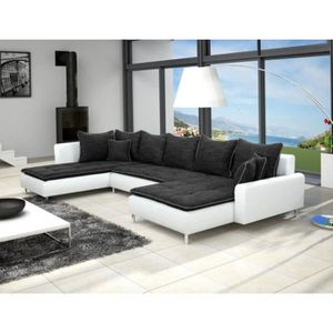 canape blanc simili cuir achat vente canape blanc. Black Bedroom Furniture Sets. Home Design Ideas