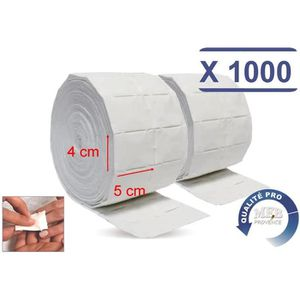 Carre cellulose Anself 250 Pcs Coton cellulose manucure pour faux ongles Nettoyage du visage Couleur al/éatoire
