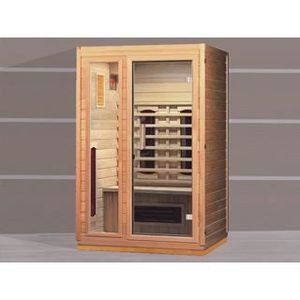 sauna infrarouge ospazia hemlock luxe 2 places achat vente kit sauna sauna infrarouge. Black Bedroom Furniture Sets. Home Design Ideas