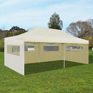 TONNELLE - BARNUM Tente de réception pliable crème 3 x 6 m Tonnelle
