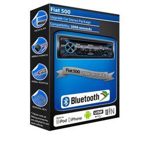 AUTORADIO Fiat 500 CD player, Sony MEX-N4200BT car stereo Bl
