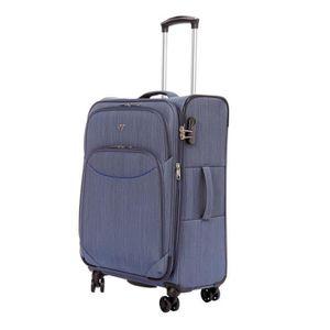 VALISE - BAGAGE Valise cabine souple 8 roulettes Verage Bleu