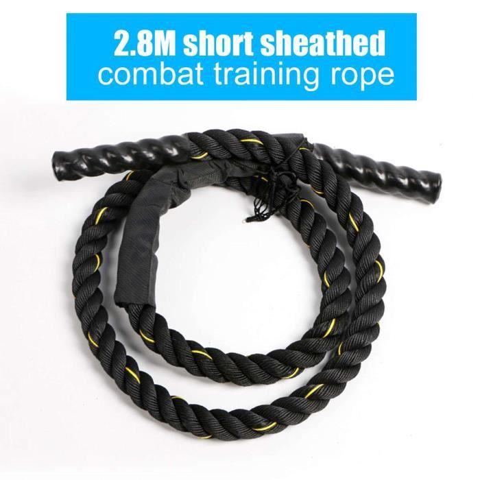 Accessoires Fitness - Musculation,25mm Fitness corde à sauter lourde Crossfits bataille pondérée cordes à - Type 2.8m Gold Short